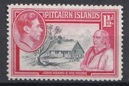 "Pitcairn - Koning George VI - Muiterij ""Bounty""- John Adams - Pitcairn - MH - M3 - Pitcairneilanden"