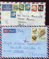 14299 Kenia,  2 Covers  Circuled  To Italy - Kenya (1963-...)