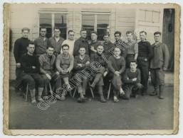 Guerre De 1939-45. Groupe De Prisonniers Au Stalag IV G (Oschatz). Henri Ephimenko De Beauvais. - War, Military