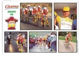 CPSM CYCLISME EQUIPE CASINO 1998 - Cyclisme