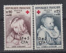 REUNION 366-67 ** - 1965 – Rode, Kruis – Croix Rouge – Red Cross - Ungebraucht