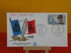 FDC- Hommage Au Maréchal De France, Alphonse Juin - Paris - 28.2.1970 - 1er Jour - Coté 2,50 € - FDC