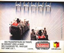 """PUB FIGURINES  """" LA GUERRE DES ETOILES """" """" L'EMPIRE CONTRE-ATTAQUE """" 1982 (7) - First Release (1977-1985)"""