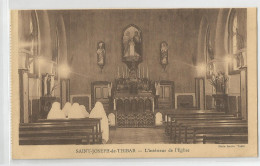 Tunisie - Saint St Joseph De Thibar L'intérieur De L'église Ed Photo Perrin Tunis - Túnez