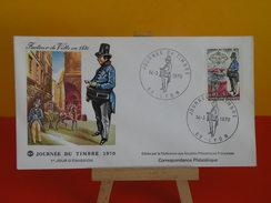 FDC- Journée Du Timbre 1970 - 69 Lyon - 14.3.1970 - 1er Jour - Coté 3 € - 1970-1979
