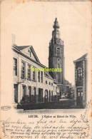 CPA LEUZE L'EGLISE ET HOTEL DE VILLE - Leuze-en-Hainaut