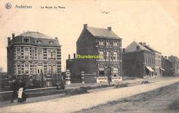 CPA  ANDERLUES  LA ROUTE DE MONS - Anderlues