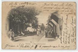 Tunisie - - Tunis Rue Halfaouine 1909 , Régence De - Túnez