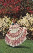 """PANAMA--a Panamanian Beauty,wearing Her National Costume,the Colorful  """"pollera""""--- Voir 2 Scans - Panama"""
