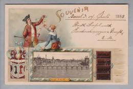 Motiv Schokolade Suchard Litho Mit Foto Basel 1898-07-14 - Alimentation