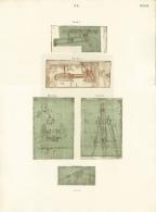 Codice Atlantico - Eliotipia - Stampa Originale Del 1894-1904 - Non Classificati