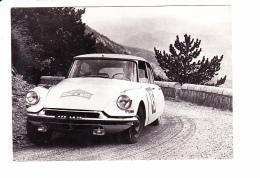 CITROËN DS 19 De TRAUTMANN-CHOPIN, Col De Soubeyrand, COUPE DES ALPES 1962,Photo JUNIOR Ed. Société André Citroën - Rallyes