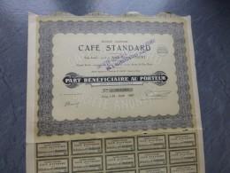 CLICHY, Café Standard,   Lot De  8 Actions Part Bénéficiaire  + 4 Offertes ; Ref ACT C - Shareholdings