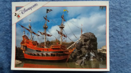 CPM DISNEY EURODISNEY ADVENTURELAND MICKEY BATEAU PIRATE - Disneyland
