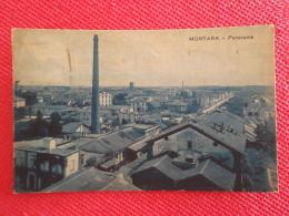 Mortara Lato Ovest Sopra I Silos Della Lomellina 1935 Ed. Barbè + Timbro Targhetta  Alessandria - Italia