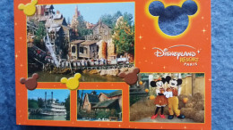 CPM DISNEY EURODISNEY DISNEYLAND DISNEY FRONTIERLAND  MICKEY CARTE A TROU - Disneyland