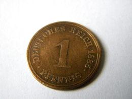 ALLEMAGNE - 1 PFENNIG 1885.A. - 1 Pfennig