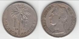 **** CONGO BELGE - BELGIAN CONGO - BELGISCH CONGO - 1 FRANC 1928 ALBERT **** EN ACHAT IMMEDIAT !!! - Congo (Belge) & Ruanda-Urundi