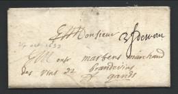 "L 1699 Manuscrit ""3f Demons"" Pour Gand - 1621-1713 (Spanish Netherlands)"