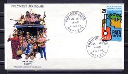 FDC, P.A.T.A. 1970, à Tahiti, PA 29  Musique  Guitare - FDC