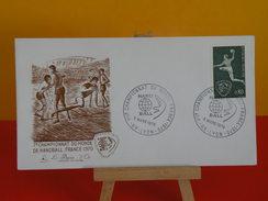 FDC- Championnat Du Monde De Handball - Paris - 21.2.1970 - 1er Jour - Coté 2 € - 1970-1979