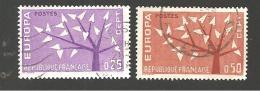 "Yt 1358 Et 1359 "" Europa "" 1962 Oblitérés - France"