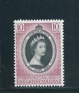 Malaysia Negri Sembilan  Nr. 66 , Krönung Von Königin Elisabeth II. - Negri Sembilan