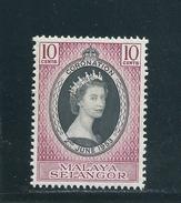Malaysia Selangor  Nr. 78 , Krönung Von Königin Elisabeth II. - Selangor