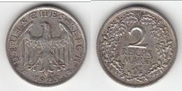 **** ALLEMAGNE - GERMANY - WEIMAR REPUBLIC - 2 REICHSMARK 1925 A - ARGENT - SILVER **** EN ACHAT IMMEDIAT - [ 3] 1918-1933 : Weimar Republic