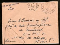 """FRANCE - 1966 COVER WITH CANCELS """"BASE SOUS-MARINS TOULON"""", """"SERVICE DE LA MER"""" - U-BOOT , SUBMARINES, SOTTOMARINO,"""