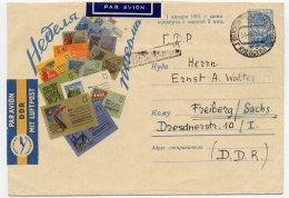 SOVIET UNION 1960 40 K. Blue Illustrated Envelope Used To DDR.  Michel U206 - 1960-69