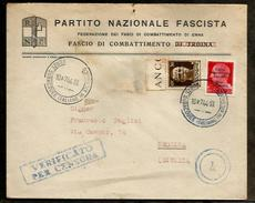 "ITALY - 1944 ""LA BASE DE SOUS MARIN DE BORDEAUX ""BETASOM"" RARE WWII COVER -  U-BOOT , SUBMARINES, SOTTOMARINO,"