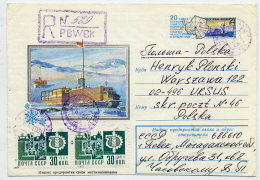 SOVIET UNION 1978 4 K. Polar Research Station  Used Registered To Poland With Additional Franking.  Michel USo36 - 1923-1991 USSR