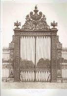ECOLE MILTAIRE PARIS 7 GRILLE DE LA COUR D HONNEUR ECOLE DE GUERRE ARCHITECTE 1911 CHAMP DE MARS - Architectuur