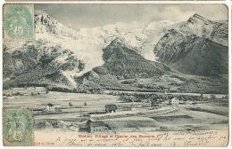 Station Village Et Glacier Des Bossons  Edit Photoglob Zurich  Cachet Train Le Fayet A Chamonix - France