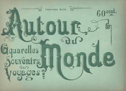 GUYANE FRANÇAISE - 8 AQUARELLES -  Fascicule  AUTOUR DU MONDE - SITES TYPES MOEURS ET COSTUMES - Books, Magazines, Comics