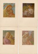 4 Cartoline Vanni Rossi La Madonna Col Bimbo Galleria Arte Sacra Villa Clerici Milano FG NV Niguarda - Vierge Marie & Madones