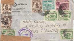 Censorship Letter 1951 Peru, AREQUIPA - Austria Vienna, Letter Without Content,.Transport Tracks ... - Peru
