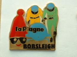 Pin´s J.O ALBERTVILLE 92  - BOBSLEIGH FRANCE LA PLAGNE - Olympic Games