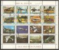 Umm Al-Qiwain 1972 Mi# 1290-1305 Used - Mini Sheet Of 16 - Old And New Planes - Umm Al-Qiwain