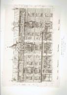 L ARCHITECTE 1911 MAISON DE RAPPORT RUE DES PYRENEES ET RUE EMMERY A PARIS 20 FACADE DEVELOPPEE - Architectuur
