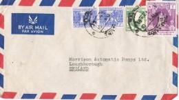 19647. Carta Aerea RANGOON (Burma) Birmania 1954 - Myanmar (Burma 1948-...)