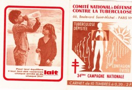 CARNET DE 10 Timbres COMITE NATIONAL De DEFENSE CONTRE LA TUBERCULOSE - Unclassified