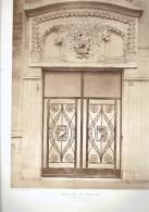 L ARCHITECTE 1914 IMMEUBLE DE RAPPORT 55 QUAI D ORSAY A PARIS 7 PORTE D ENTREE FACADE SUR SUR QUAI - Architectuur