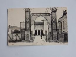 Carte Postale Ancienne : ORLEANS : L'Alhambra, Animé, En 1917, Affiches - Orleans
