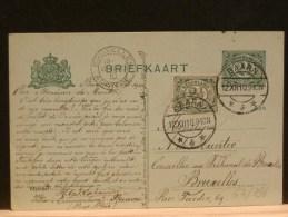63/396     BRIEFKAART NAAR BELG.  BIJ BIJFR. - Postal Stationery