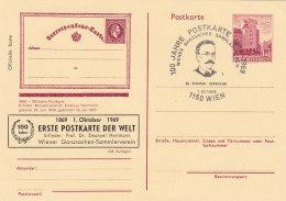 Österreich 1969 Nr. ?? - Ganzsache Gestempelt Cancelled - Postkarte 100 Jahre Wiener Ganzsachen Sammler Verein - Ganzsachen