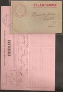 Maroc - Morocco - 1914 - Télégramme Lettre + Texte - RRR -prix Sacrifié !! - Maroc (1891-1956)