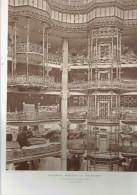 L ARCHITECTE 1911 NOUVEAUX MAGASINS DU PRINTEMPS BOULEVARD HAUSSMANN A PARIS 9 LE GRAND HALL - Architecture