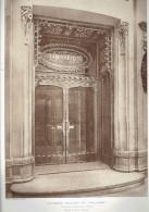 L ARCHITECTE 1911 NOUVEAUX MAGASINS DU PRINTEMPS PORTE D ENTREE BOULEVARD HAUSSMANN PARIS 9 - Architectuur